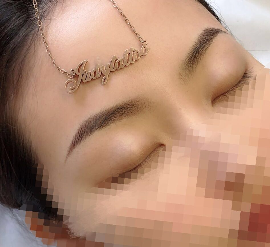Semi Permanent Eyebrows Tattoo